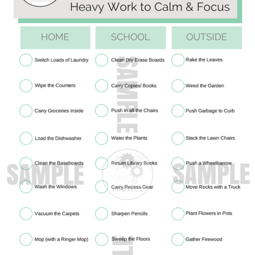 Heavy Work Chart