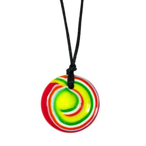 Rainbow Swirl Disc Chewable Jewelry