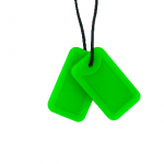 Green Dog Tags