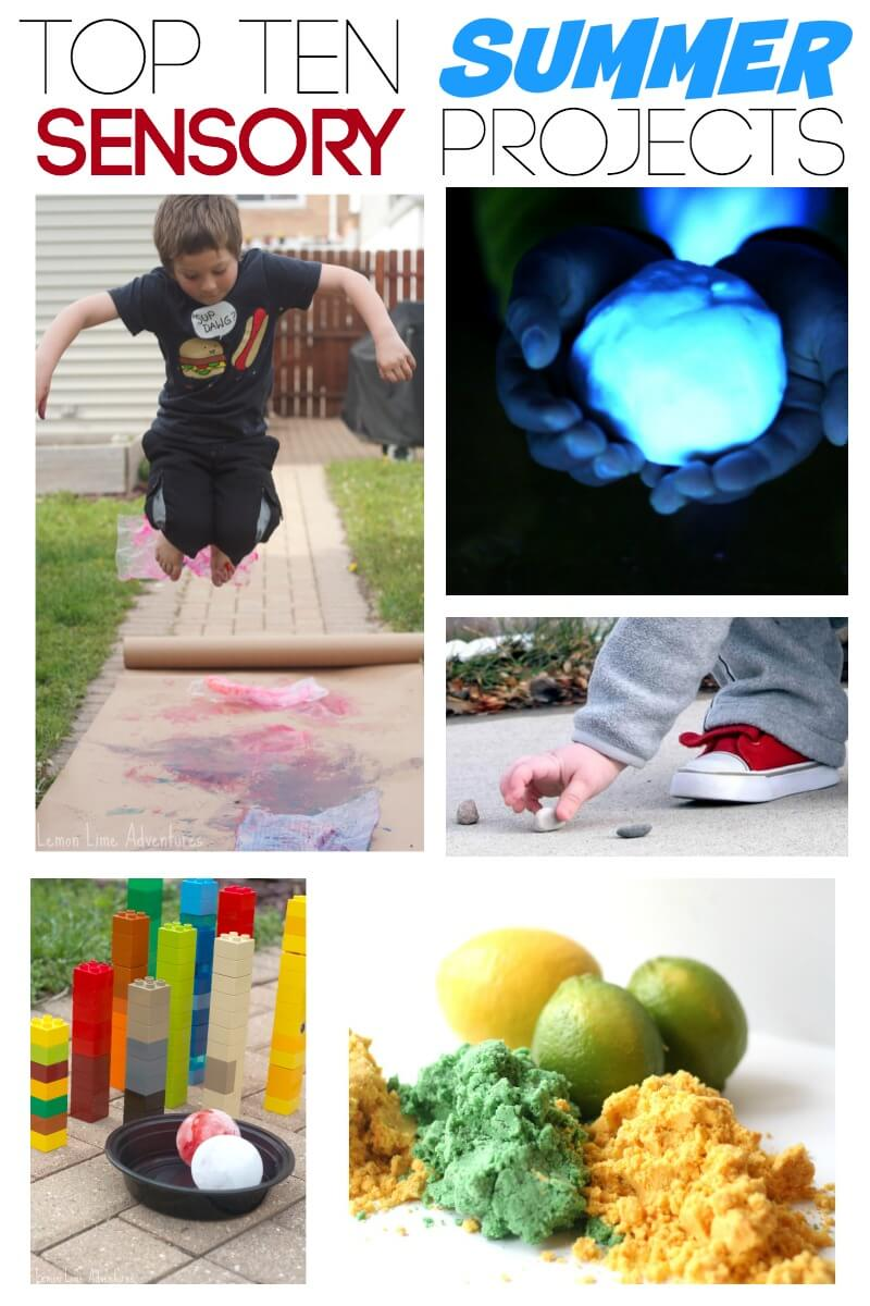 Top 10 Summer Sensory Projects