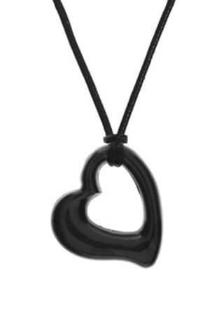 Black Heart Chewable Jewelry