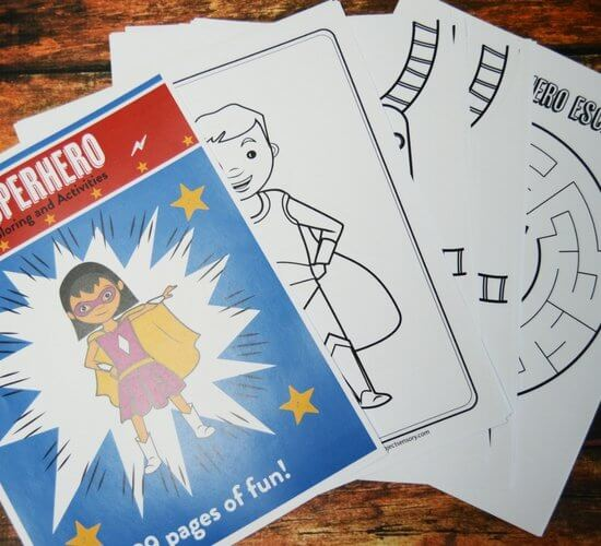 Superhero Calming Coloring and Activity Pack