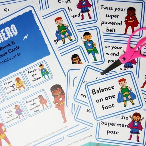 Superhero Calming Sensory Break Cards!